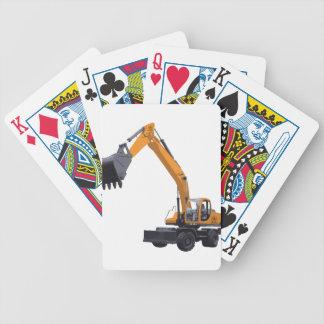 Big Bagger Excavator Bicycle Playing Cards