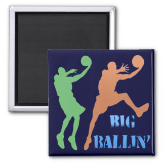 Big Ballin' 2 Inch Square Magnet