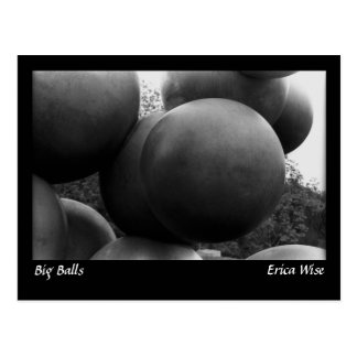 Big Balls Sculpture Postcard