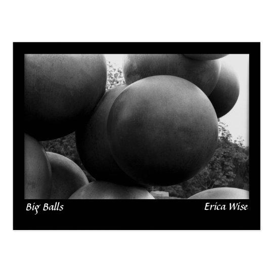 Big Balls Sculpture Postcard