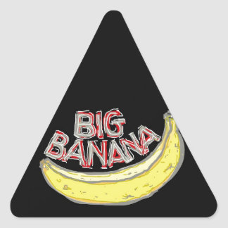 Big banana. triangle sticker