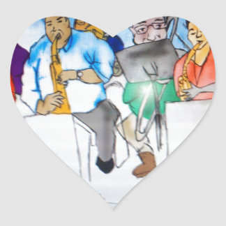Big Band Music Heart Sticker