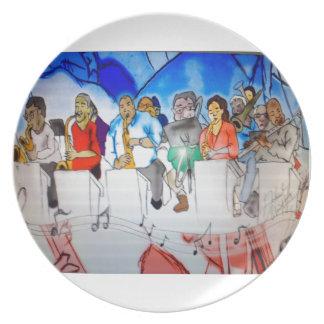 Big Band Music Melamine Plate
