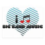 Big Band Music Post Card
