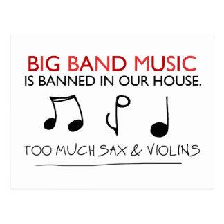 Big Band Music Postcard