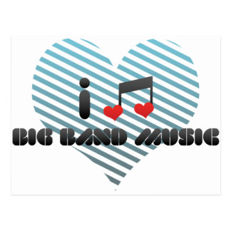 Big Band Music Postcard