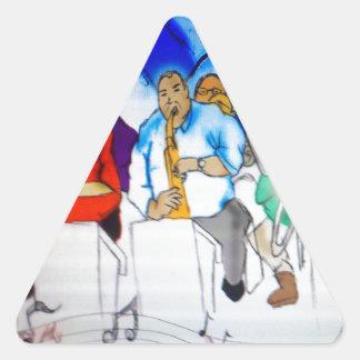 Big Band Music Triangle Sticker