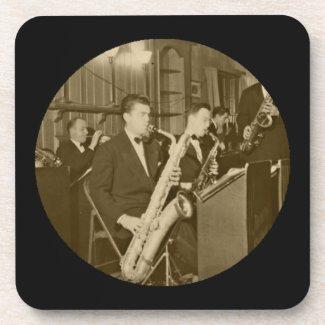 Big Band Vintage Saxophone Photograph Coasters