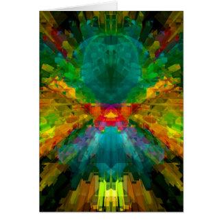 Big Bang 4 Colorful Energy Abstract Card