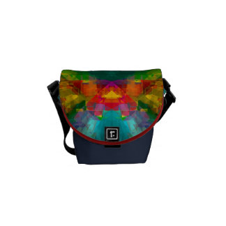 Big Bang 4 Colorful Energy Abstract Courier Bags
