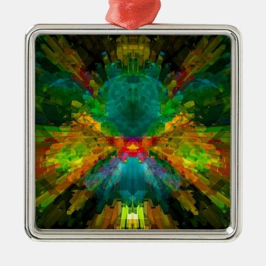 Big Bang 4 Colorful Energy Abstract Metal Ornament