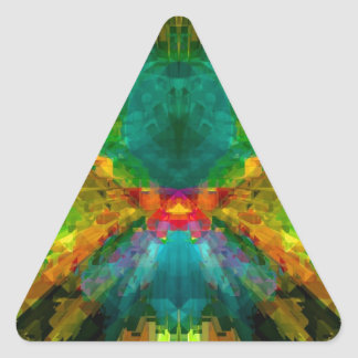 Big Bang 4 Colorful Energy Abstract Triangle Sticker