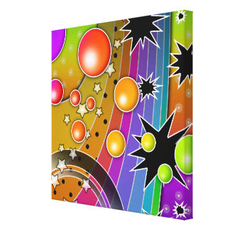 Big Bang Black Hole COSMIC Wrapped Canvas