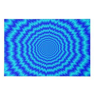 Big Bang Blues Faux Canvas Print