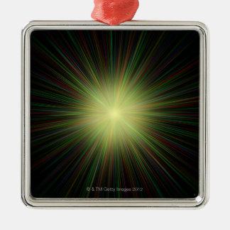 Big Bang, conceptual computer artwork. 2 Metal Ornament