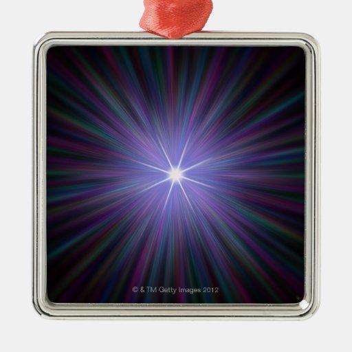 Big Bang, conceptual computer artwork. 2 Christmas Tree Ornament