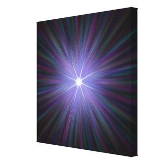 Big Bang, conceptual computer artwork. Canvas Print