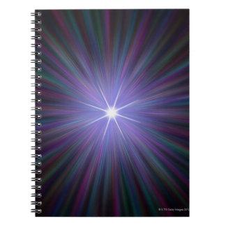 Big Bang, conceptual computer artwork. Spiral Notebooks