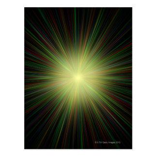 Big Bang, conceptual computer artwork. Postcard