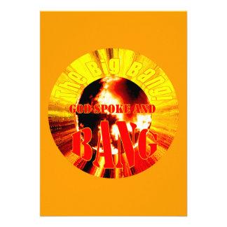 ¡Big Bang! Dios habló y EXPLOSIÓN Invitación Personalizada