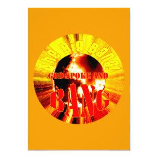 """¡Big Bang! Dios habló y EXPLOSIÓN Invitación 5"""" X 7"""""""