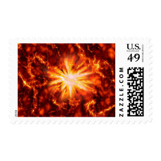 Big Bang Fiery Explosion Fireball Stamp