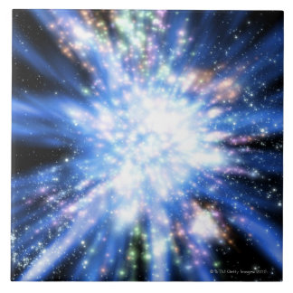 Big Bang from Outer Space Ceramic Tile