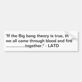 Big Bang ........ hace la matemáticas Pegatina Para Auto