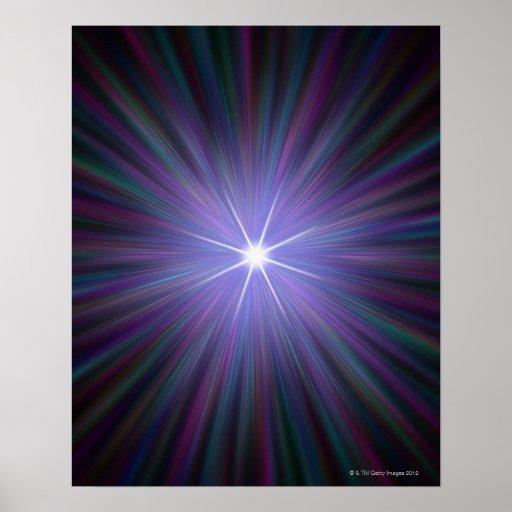 Big Bang, ilustraciones conceptuales del ordenador Poster