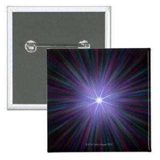 Big Bang, ilustraciones conceptuales del ordenador Pin Cuadrada 5 Cm