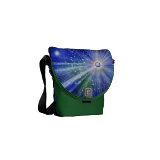 Big Bang in the universe with stars Courier Bag
