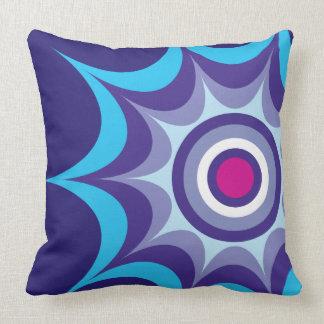 Big Bang Indigo Throw Pillow