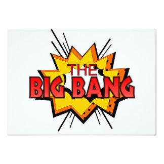 """Big Bang Invitación 5"""" X 7"""""""