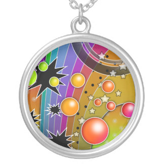 Big Bang Pop Art Silver Plated Necklace