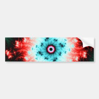 Big Bang - red and blue fractal explosion Car Bumper Sticker