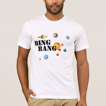 big bang solar system t-shirt design science geek