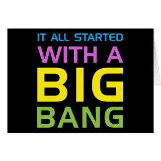 Big Bang Tarjeta De Felicitación