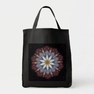 Big Bang Theory Kaleidoscope Reusable Black Tote Bag