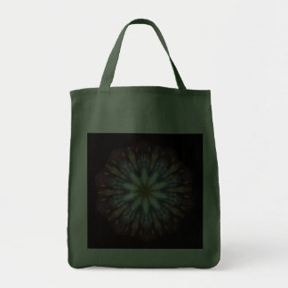 Big Bang Theory Kaleidoscope Reusable Hunter Green Tote Bags