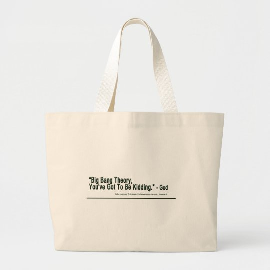 Big Bang Theory Large Tote Bag