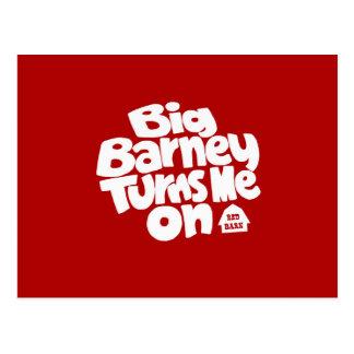 Big Barney Turns Me On Postcard