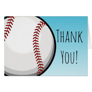 Big Baseball Custom Thank You Card