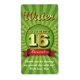 Big Bash Sweet 16 Water Label