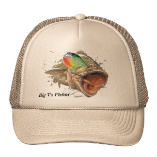 Big Bass Just Busting Through Trucker Hats