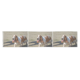 Big Basset Hound Short Table Runner