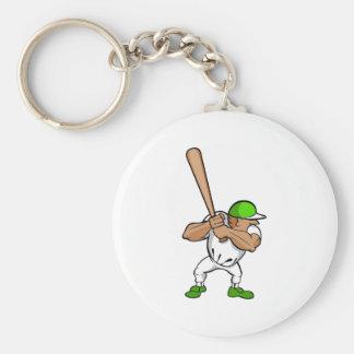 Big bat little player basic round button keychain