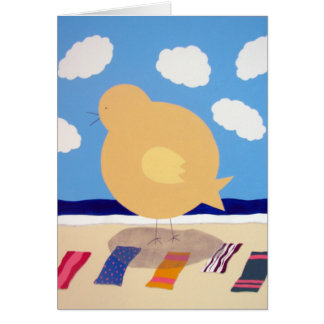 Big Beach Chick Card