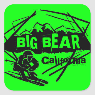 Big Bear California green ski logo stickers