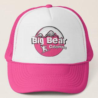 Big Bear California pink black white snowboard hat