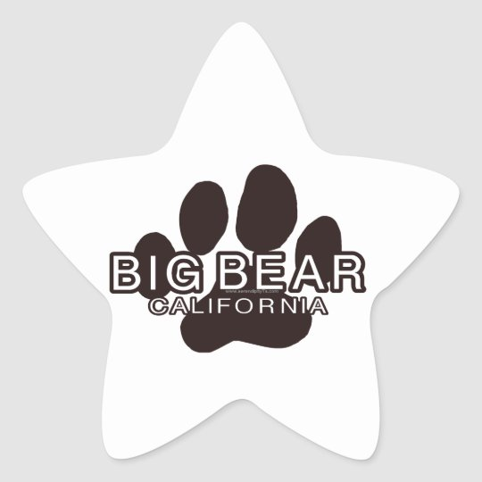 Big Bear California Star Sticker